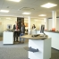 Referenzbild Sparkasse LED Flächenbeleuchtung Quadro LED-Beleuchtung LOGIC Glas