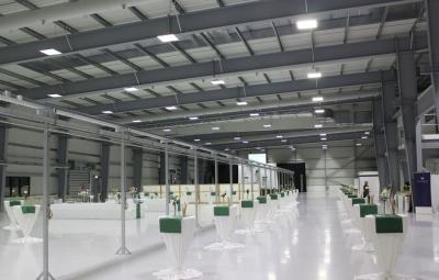 Referenzbild LED Industrieleuchte Industrial Woco Kronacher Kunststoffwerk
